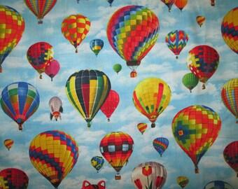 Hot Air Balloon Bright Colors Cotton Fabric Fat Quarter Or Custom Listing