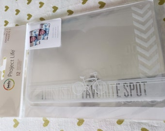 Project Life - Becky Higgins - Photo Overlays - 12 Pieces Per Package - Set Number 1
