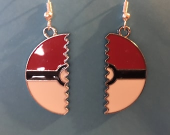 Pokemon Poke Ball Pokeball Earrings   B46