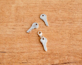 Silver key charm for Traveler's Notebook and planners