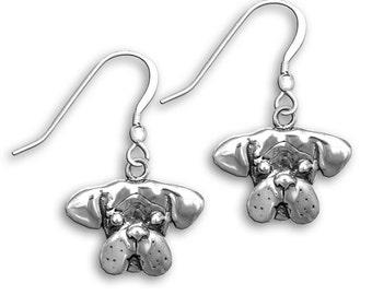 Sterling Silver Boxer Earrings