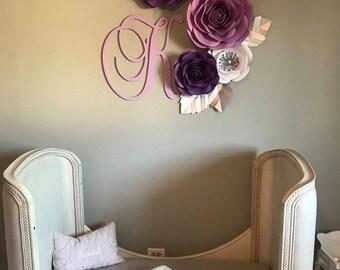 Large Paper Flowers / Nursery Decor *****Color Customizable*****