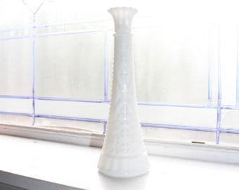 Vintage Milk Glass Bud Vase Retro Wedding Decor