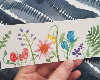 Floral Bookmark with Shimmer Details