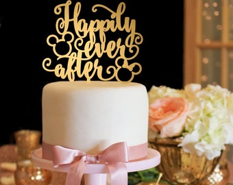 Mickey Wedding Cake Topper Happily Ever After Wedding Cake