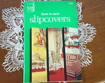 1974 Singer How to Sew Slipcovers Book