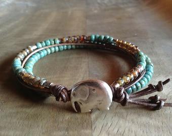Bohemian bracelet boho bracelet beaded bracelet boho chic bracelet hippie womens jewelry gift for her boho chic jewelry gypsy bracelet