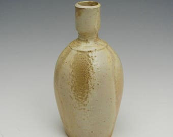 Wood fired porcelain bottle