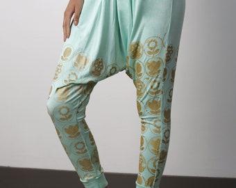 harem pants, yoga pants women, mint green pants, mint green leggings, festival pants, matching set, modal pants, lounge pants. yoga wear