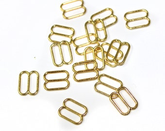 100 PCS Gold / Silver Sliders for Bra making and Lingerie Sewing