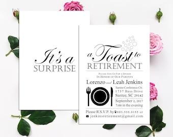 Formal invitation etsy retirement party invitation retirement party surprise party its a surprise stopboris Choice Image
