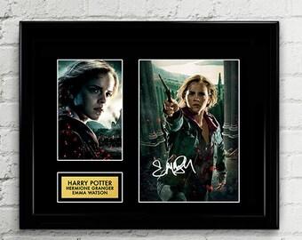 Emma Watson - Hermione Granger Signed Poster Art Print Artwork Reprint - Hogswarts Harry Potter Cursed Child by JK Rowling