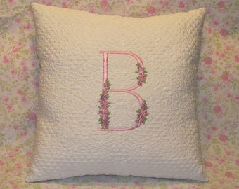 Monogrammed pillow, Throw pillow, Monogrammed throw pillow, Baby throw pillow, baby monogrammed pillow, Baby gift