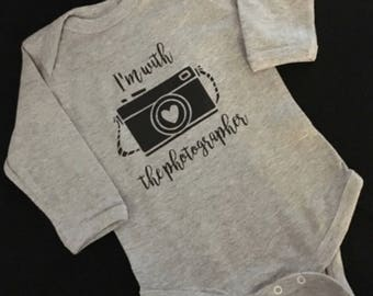 Photographer Gift | Photographer Baby Gift | Camera Shirt | Photography Shirt | Mom Paparazzi | New Mom Gift | Unique Baby Shower Gift