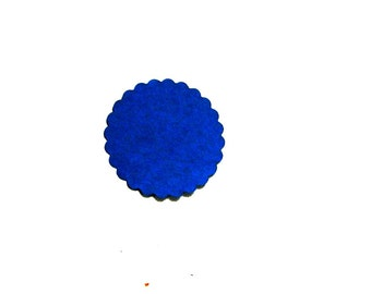 2 inch diameter scalloped circle paper die cut embellishments, DIY craft supply for making tags or package labeling choose amount and color