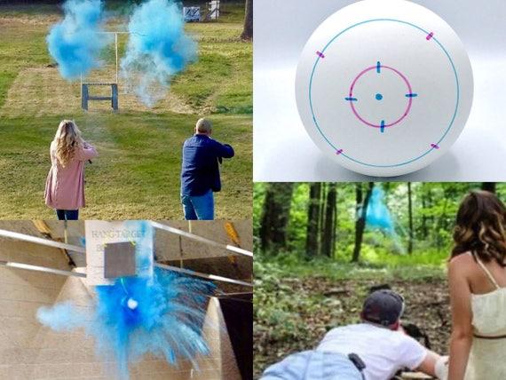 """SHOOTING TARGET Gender Reveal Balls 4"""" Gender Reveal Shooting Target"""