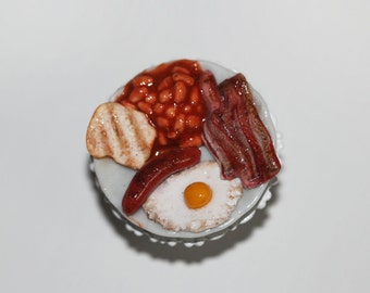 English breakfast ring - Food Ring - Miniature Food Jewelry