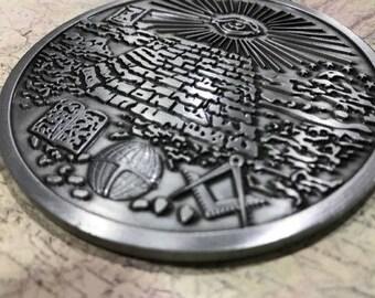 National Treasure Masonic Medallion *Silver Version* Fans Version Prop Replica