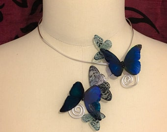 "Deformable collar translucent Butterfly ""stained glass moth"""