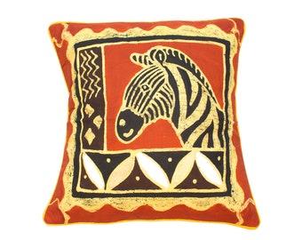 Set of 3 Batik African Animals Cushion cover