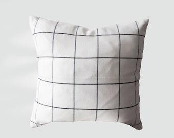 Black, White,Squares,check,Pillow Case,soft,minimalism, square shape, zipper, modern, winter, home decor, livingroom