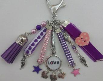 LOVE, Valentine, bag charm Keyring