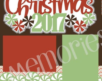 Scrapbook Page Kit Christmas 2017 Premade Scrapbook Pages 2-page 12X12 Page Kit or Premade Layout