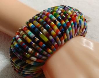 Sobral Signed Magazine Half Moon Stretch Bracelet