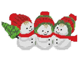 Plastic Canvas SnowBaby Group Instant Download