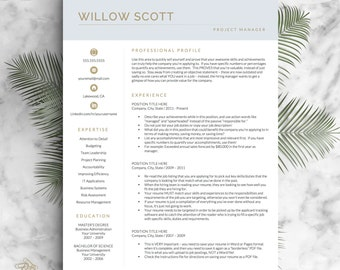 cv pages template