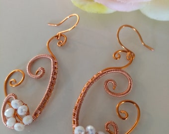 Wire Wrapped Faceted Crystal Earrings Loveswan Jewelry