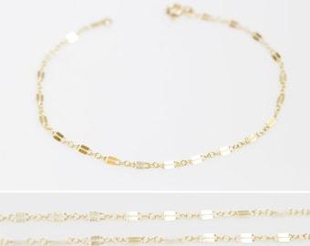Dainty Gold Bracelet / 14k Gold Filled Chain Bracelet / Stacking Bracelet / Gold Chain Bracelet / Layering Bracelet / Silver Bracelet BR20
