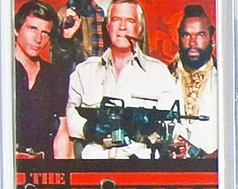 The A Team George Peppard Dirk Benedict Mr T Dwight Schultz - TV poster Fridge Magnets & Keyrings Version 1  - New
