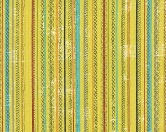 Moda - Garden Project by Tim and Beck Stitched Stripe in Pear 39554-17