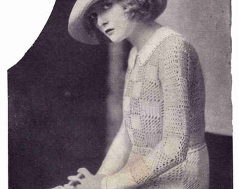 1920s Knit Sweater Pattern The Overmere Sweater Download Repro PATTERN ONLY