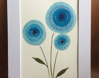 Blue Flower original painting