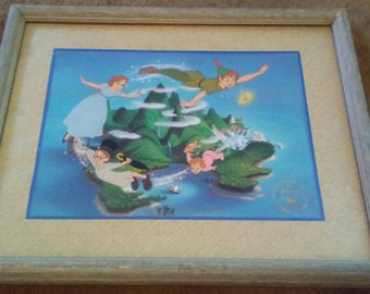 Framed Peter Pan Limited Edtion Lithograph