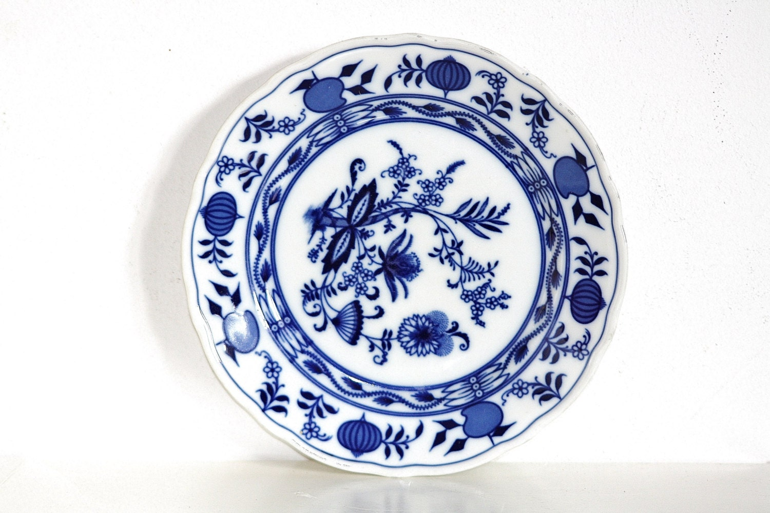 Bavaria Plate, Blue Plate, Zwiebelmuster Plate, 100 years Old Plate ...