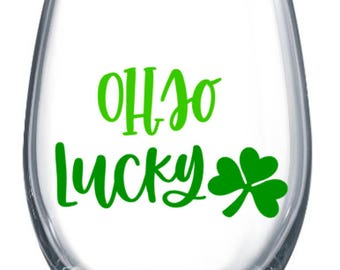 Oh So Lucky Stemless Wine Cup (plastic stemless wine cup)-