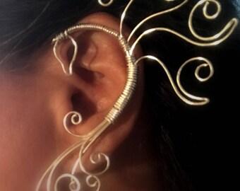 Phoenix, Phoenix Fire Jewelry Ear Cuff, Vine Jewelry, ear jewelry, ear climber, ear wrap, ear jacket, non pierced