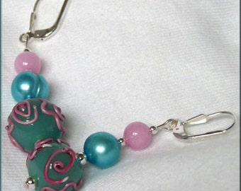 Ice Cream Colors Sterling Silver Earrings