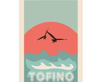 Tofino - Surf's Up Graphic Poster - Tofino Poster