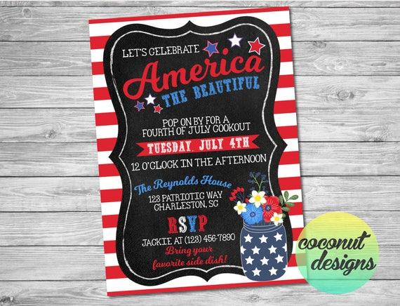 fourth of july invitation fourth of july bbq invitation