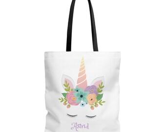 Unicorn Tote Bag, Unicorn Tote Bags, Unicorn Gift Bags, Unicorn Beach Bag, Personalized Unicorn Tote Bag, Rainbow Unicorn Tote Bag,