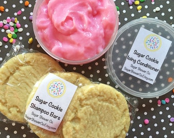 Sugar Cookie Shampoo Bars & Icing Conditioner - Shampoo and Conditioner - Food Soap - Dessert Soap - Hair Care