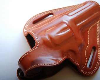 "Taurus Tracker 44 Magnum 4"" barrel 5 Rounds Custom Handcrafted Leather Belt Holster"