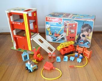 Vintage Playskool Rescue Center 470 Playset with Original Box