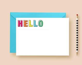 You Had Me At Hello Personalized Stationery Flat Note Cards, Custom Thank You Cards Printable, Personalized Printed Thank Yous, Gift For Her