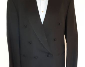 "Vintage mens Tuxedo Jacket by Ricardo Baumler mens evening dress jacket -  black tuxedeo blazer size 40"" chest L"