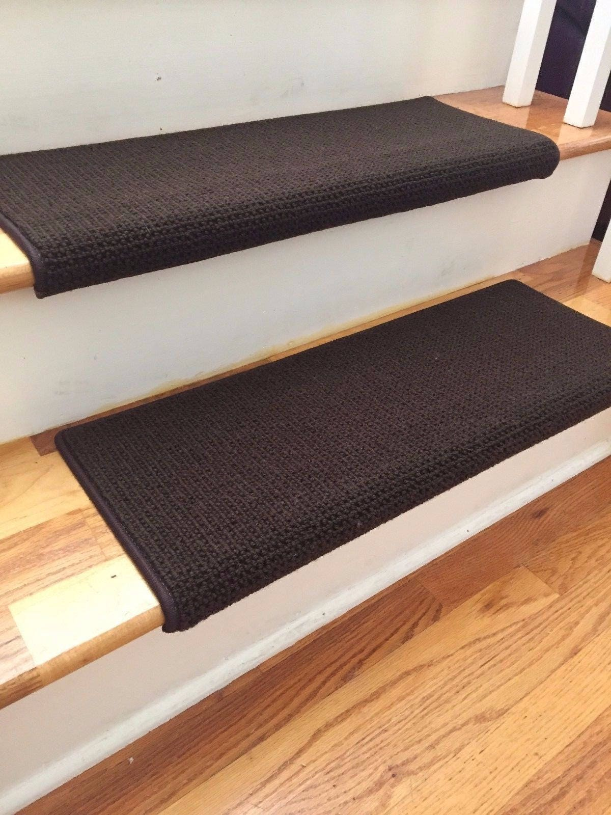 Matrix French Roast 100% New Zealand Wool TRUE Bullnose™ Carpet Stair Tread  Runner Replacement For Style, Comfort And Safety (Sold Each)